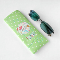 Fly Me Home - Eyeglass Case, Glasses Case, Sunglasses Case in Hot Air Balloon
