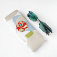 Cloud Eyeglass Case, Glasses Case, Sunglasses Case in Hot Air Balloon
