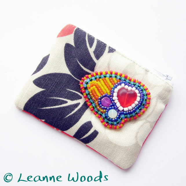 SALE - Carnival Heart Coin Purse