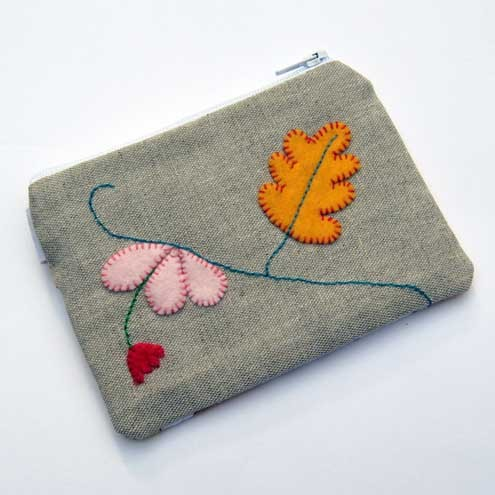 Oak Leaf Coin Purse