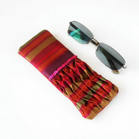 Jewel Bright and Sequin Textured Glasses Case, Sunglasses Case
