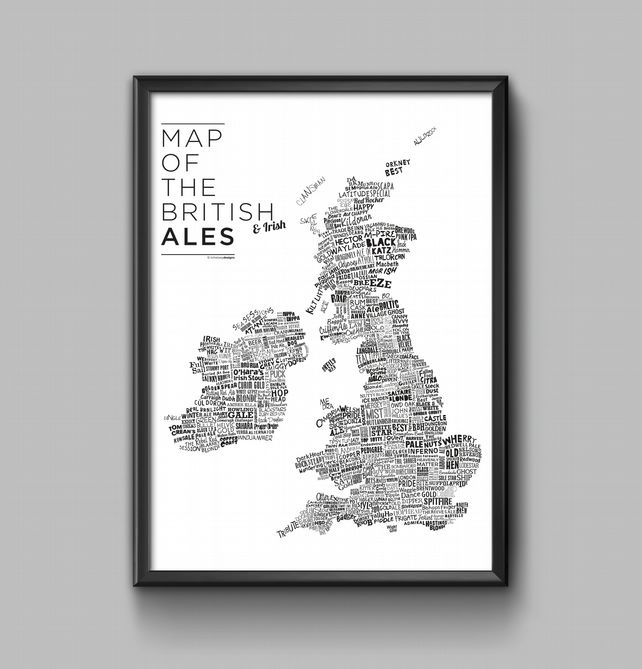 'Map of the British Ales' A3