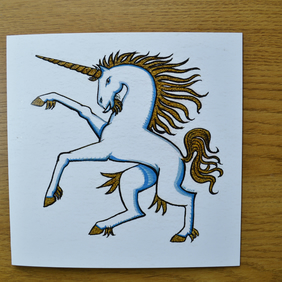 Unicorn birthday card blank special occasion card