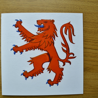 Lion greeting cards blank printed card heraldry card