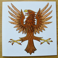 Eagle birthday card bird cards