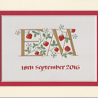 Letters with strawberries handpainted wedding or anniversary gifts