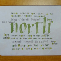 Tablemat North Scotland placemat housewarming gifts