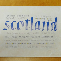 Scotland Placemat tablemat housewarming gift