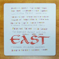 Tablemat East of Scotland placemat housewarming gifts