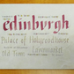 Edinburgh Placemat tablemat housewarming gift