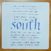 Tablemat South of Scotland placemat housewarming gifts