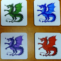 Dragon coaster set new home gift housewarming gift.