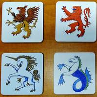 Griffin Unicorn coaster set new home gift housewarming gift.