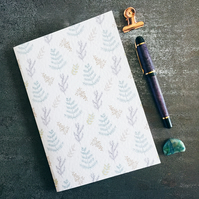 Sprigs repeat pattern smaller botanical handmade notebook sketchbook journal