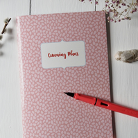 Cunning Plans personalisable A5 handmade notebook sketchbook journal
