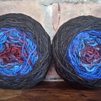 Hand Dyed Alpaca and Wool Gradient Sock Yarn (two matching 50g yarn cakes)