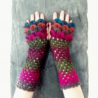 Dragon Scale Gloves - Anemone