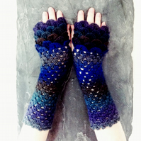 Dragon Scale Gloves - Midnight
