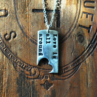 Fine Silver 'Love is all around' Pendant