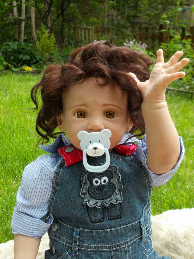 Tommy,  artist made collectible reborn toddler baby doll boy male for sale