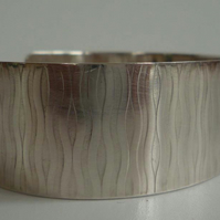 sterling silver embossed cuff