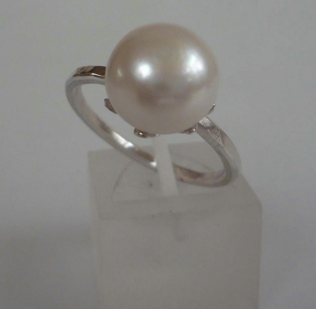 Pearl and Silver Ring stacking