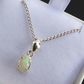 Welo Opal set in silver on 16 inch silver chain gift for her