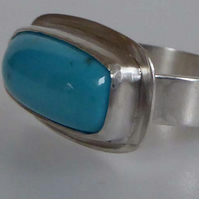 Nacozari Turquoise silver ring ready to ship