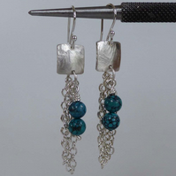 Turquoise & Sterling Silver chain earrings