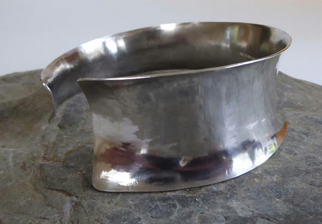 Cuff Bangle Argentium silver anticlastic shape size sm to med FREE P&P