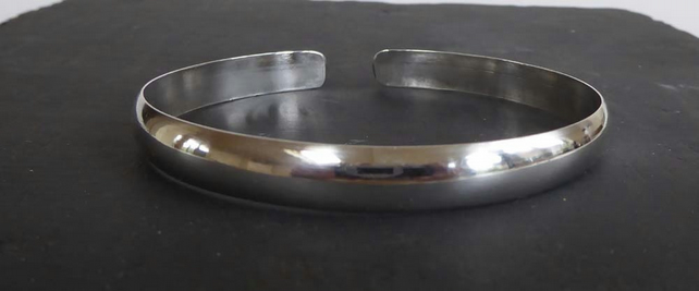 Chunky open bangle sterling silver hallmarked 25.2g of silver