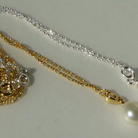 Sterling silver or Gold Vermeil freshwater pearl pendants bridal wedding