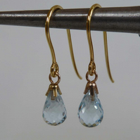 9ct gold topaz earrings