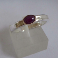 Ruby stacking ring in 14ct gold setting ring size O