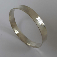 Argentium silver anticlastic hammered bangle small size