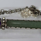 Purple Amethyst and green Aventurine silver pendant OOAK