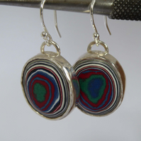 Kenworth Fordite sterling silver earrings Free Shipping UK