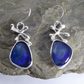 Australian freeform Opal triplet silver earrings artisan OOAK Free Shipping