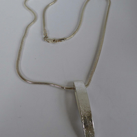 Contemporary Reticulated sterling silver pendant choice of chains