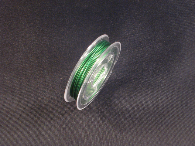 Green TigerTail Wire - 0.8mm x 10 Meter Roll