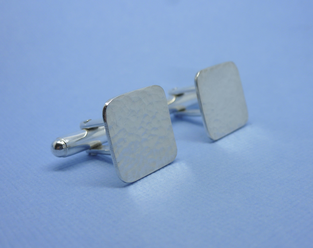 Mens Silver Cuff Links - Gents Square Solid Sterling Silver 925 Cufflinks Pair