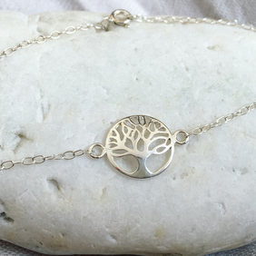 Silver Tree of Life Bracelet - Solid Sterling Silver 925 Tree Bracelet