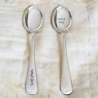 Silver Baby Spoon - New Baby Girl Boy Vintage Teaspoon Cutlery Christening Gift
