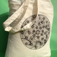 Tote Bag-cotton bag-printed long handles.