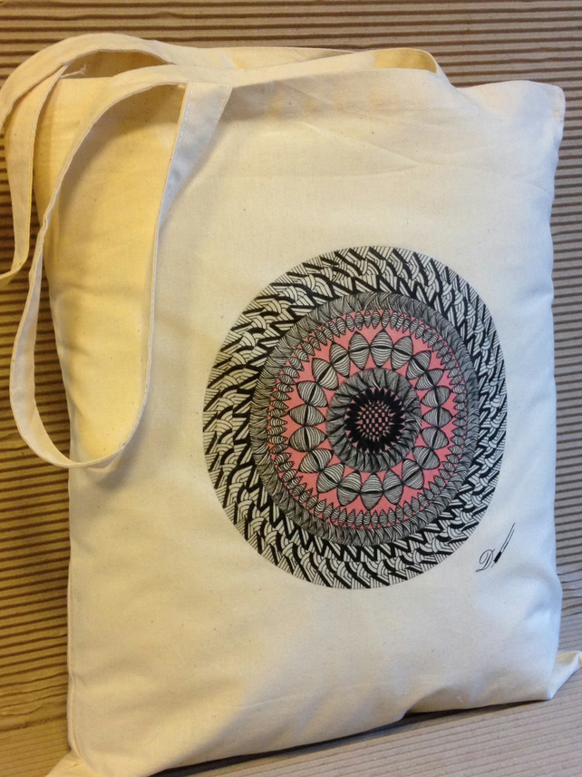 Tote bag - cotton tote bag - printed tote bag- original art.