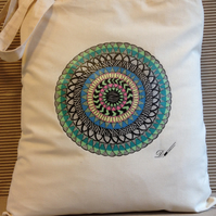 Tote bag - cotton tote bag - printed tote bag- produced from an original hand dr