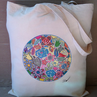 Tote Bag-cotton tote bag-printed tote bag -long handles.