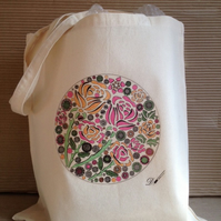 Tote Bag-cotton bag-printed tote bag with long handles.