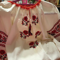 Ukrainian Handstitched Blouse