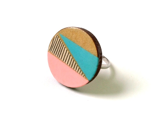 Geometric Pop Circle Ring